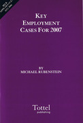 Cover of Key Employment Cases for 2007