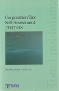 Cover of Corporation Tax Self-Assessment 2007 - 2008