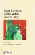 Cover of Estate Planning for the Middle Income Client
