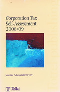 Cover of Corporation Tax Self-Assessment 2008/09