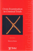 Cover of Cross-Examination in Criminal Trials