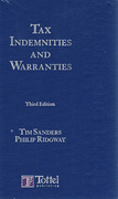 Cover of Tax Indemnities and Warranties