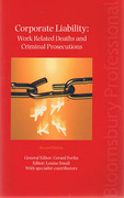 Cover of Corporate Liability: Work Related Deaths and Criminal Prosecutions