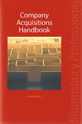 Cover of Company Acquisitions Handbook