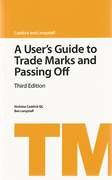 Cover of A User's Guide to Trade Marks and Passing-Off