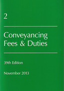 Cover of Lawyers Costs & Fees: Conveyancing Fees & Duties