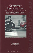 Cover of Consumer Insurance Law: Disclosure, Representations and Basis of the Contract Clauses