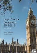 Cover of Legal Practice Companion 2014 - 2015