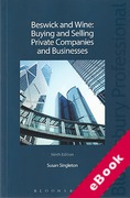 Cover of Beswick & Wine: Buying and Selling Private Companies and Businesses (eBook)