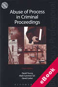 Cover of Abuse of Process in Criminal Proceedings (eBook)