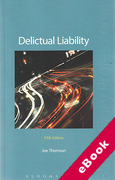 Cover of Delictual Liability (eBook)