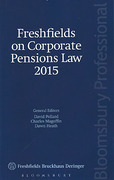 Cover of Freshfields on Corporate Pensions Law 2015
