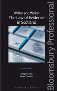 Cover of Walker and Walker: Law of Evidence in Scotland