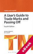 Cover of A User's Guide to Trade Marks and Passing Off (eBook)