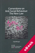 Cover of Cornerstone on Anti-Social Behaviour: The New Law (eBook)