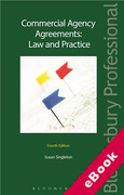 Cover of Commercial Agency Agreements: Law and Practice (eBook)