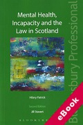 Cover of Mental Health, Incapacity and the Law in Scotland (eBook)