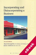 Cover of Incorporating and Disincorporating a Business (eBook)