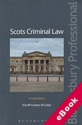 Cover of Scots Criminal Law (eBook)