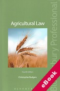 Cover of Agricultural Law (eBook)