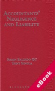 Cover of Accountants' Negligence and Liability (eBook)