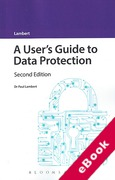 Cover of A User's Guide to Data Protection (eBook)