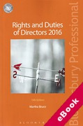 Cover of Rights and Duties of Directors 2016 (eBook)