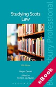 Cover of Studying Scots Law (eBook)