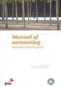Cover of Manual of Accounting: Narrative Reporting 2016