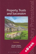 Cover of Property, Trusts and Succession (eBook)