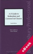 Cover of A-Z Guide to Boilerplate and Commercial Clauses (eBook)