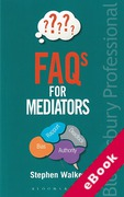 Cover of FAQs for Mediators (eBook)