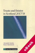 Cover of Trusts and Estates in Scotland 2017/18 (eBook)
