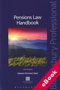 Cover of Pensions Law Handbook (eBook)