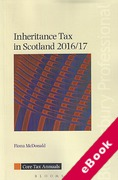 Cover of Inheritance Tax in Scotland 2016/17 (eBook)
