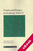 Cover of Trusts and Estates in Scotland 2016/17 (eBook)
