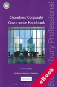 Cover of Chambers' Corporate Governance Handbook (eBook)
