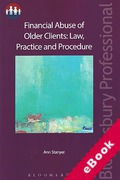 Cover of Financial Abuse of Older Clients: Law, Practice and Prevention (eBook)