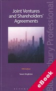 Cover of Joint Ventures and Shareholders' Agreements (eBook)