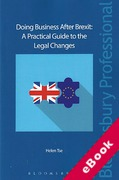 Cover of Doing Business After Brexit: A Practical Guide to the Legal Changes (eBook)