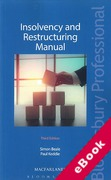 Cover of Insolvency and Restructuring Manual (eBook)