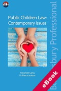 Cover of Public Children Law: Contemporary Issues (eBook)