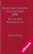Cover of Maritime Labour Convention 2006 - UK and REG Implementation (eBook)