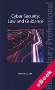 Cover of Cyber Security: Law and Guidance (eBook)