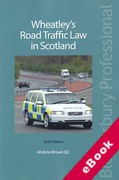 Cover of Wheatley's Road Traffic Law in Scotland (eBook)
