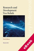 Cover of Research and Development Tax Reliefs (eBook)