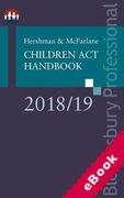 Cover of Hershman & McFarlane: Children Act Handbook 2018/19 (eBook)