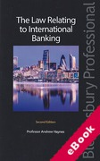 Cover of The Law Relating to International Banking (eBook)