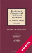 Cover of Employment Covenants and Confidential Information: Law, Practice and Technique (eBook)