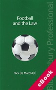 Cover of Football and the Law (eBook)